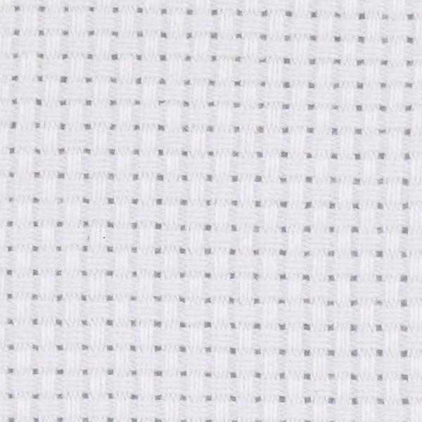 Toile à broder Aida - 4,3 pts/cm - Blanc - 50 x 50 cm - Photo n°1