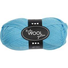 Pelote de laine pour bébés Baby Wool Yarn - turquoise - 172 m