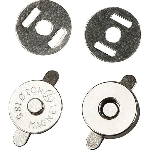 Fermoirs magnétiques à coudre - 18 mm - 25 pcs - Photo n°1