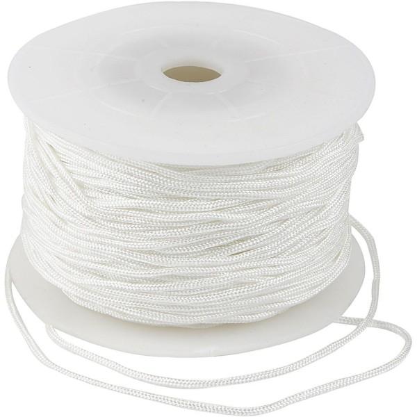 corde pour macram p 2 mm 50 m blanc cordon bijoux. Black Bedroom Furniture Sets. Home Design Ideas
