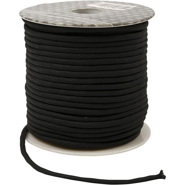 corde pour macram p 4 mm 40 m noir cordon bijoux. Black Bedroom Furniture Sets. Home Design Ideas