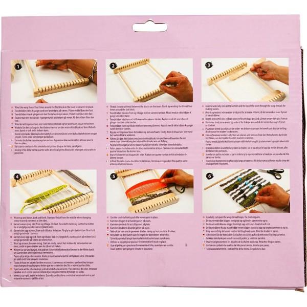 Métier à tisser en bois - 26,5 x 24 cm - Photo n°3