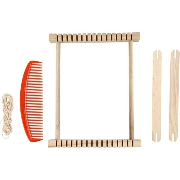 Métier à tisser en bois - 26,5 x 24 cm - Photo n°4