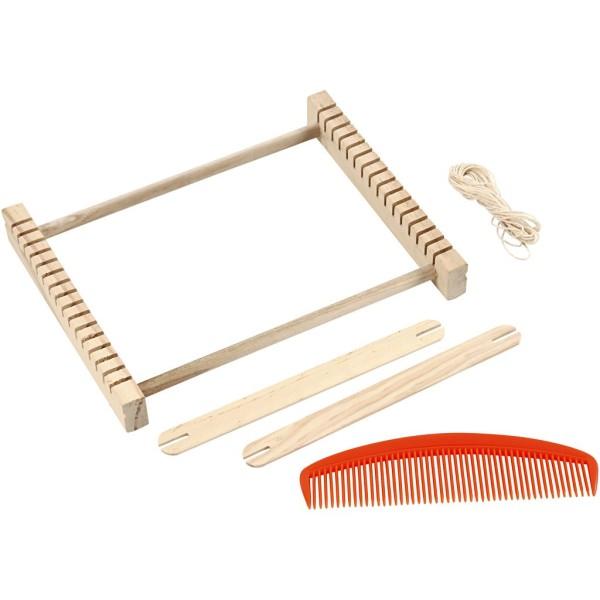 Métier à tisser en bois - 26,5 x 24 cm - Photo n°1