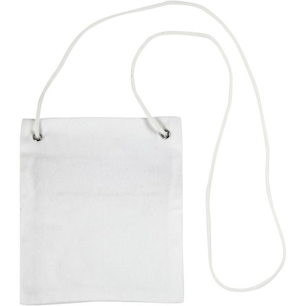 Petit sac en tissu coton à décorer - 13 x 15 cm - Blanc - 1 pce - Photo n°1