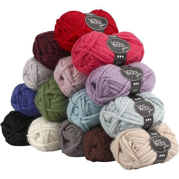 Pelote de laine Sydney, L: 50 m, 15x50 gr - Photo n°1