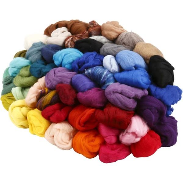Assortiment de pelotes de laine de couleurs 20 gr - 20 pcs - Photo n°1