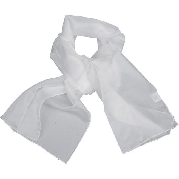 Carré de soie à customiser - Blanc - 35 x 130 cm - Photo n°1