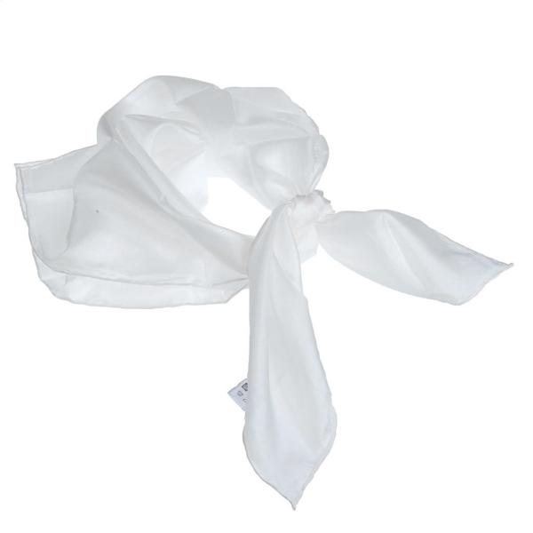 Carré de soie à customiser - Blanc - 74 x 74 cm - Photo n°1
