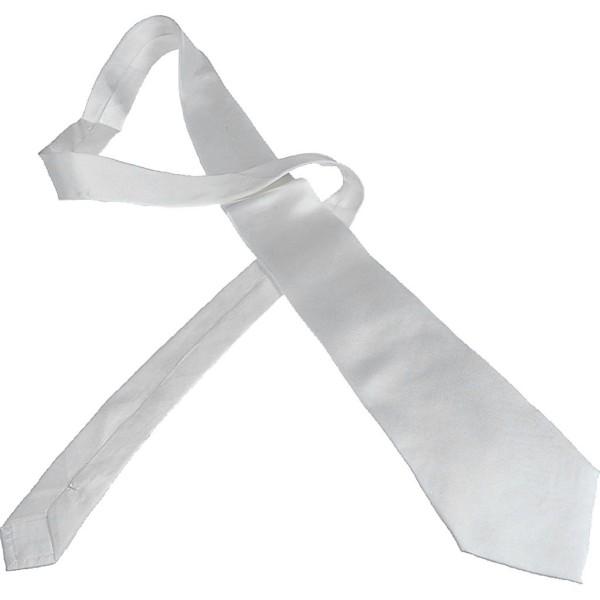 Cravate en soie à customiser - 9,5 x 140 cm - Photo n°1