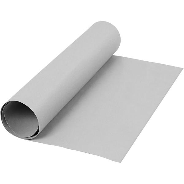 Papier imitation cuir - 50 cm x 1 m - Gris - Photo n°1
