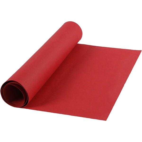 Papier imitation cuir - 50 cm x 1 m - Rouge - Photo n°1