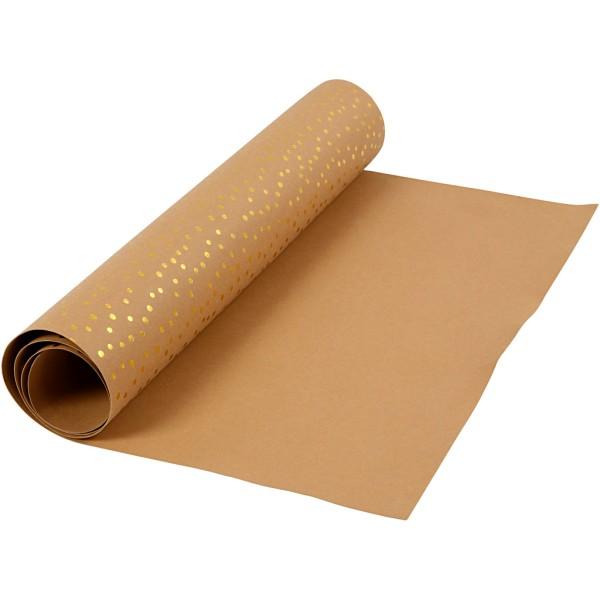 Papier lavable avec imprimé - Brun clair - 50 cm x 1 m - Photo n°1