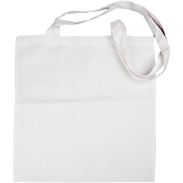 Sac Tote bag à personnaliser - 38 x 42 cm - Blanc - Photo n°1
