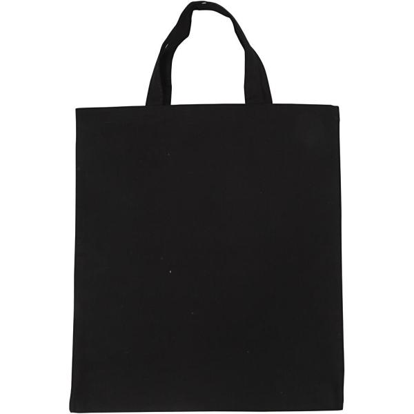 Sac Tote bag à personnaliser - 38 x 42 cm - Noir - Photo n°1