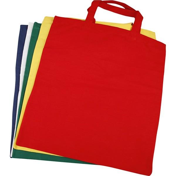 Lot de sacs Tote bag à personnaliser - 38 x 42 cm - Couleurs assorties - Photo n°1