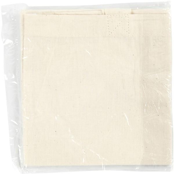 Sac tote bag - Naturel clair - 30 x 33 cm - Photo n°2