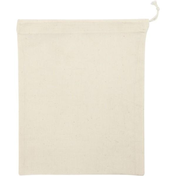 Lot de sac avec cordon - 21 x 25 cm - Naturel clair - 5 pcs - Photo n°1