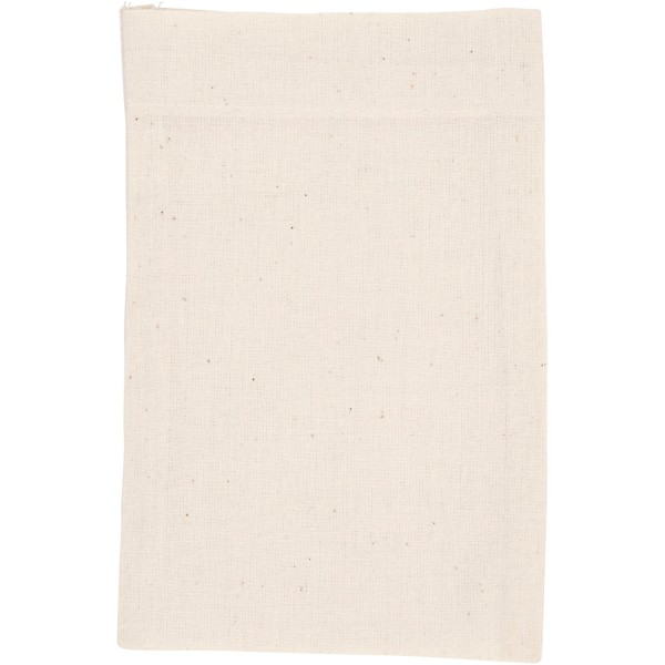 Lot de sac en coton - 15 x 20 cm - Naturel clair - 4 pcs - Photo n°1