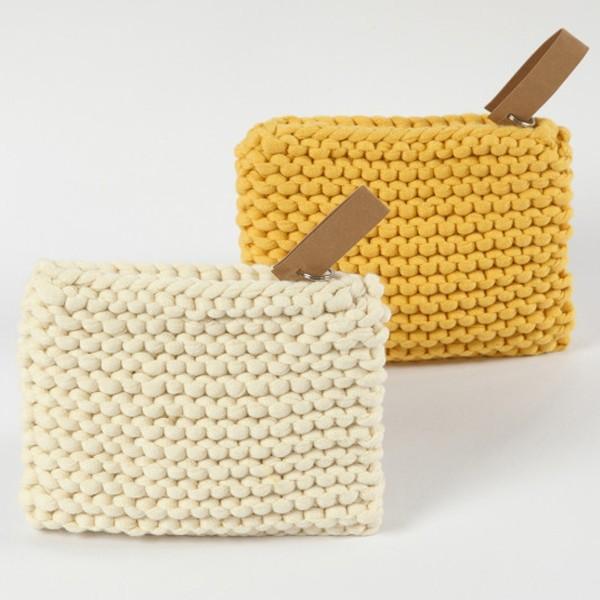 Trousse en tissu à customiser - 9 x 12 cm - Blanc - Photo n°2