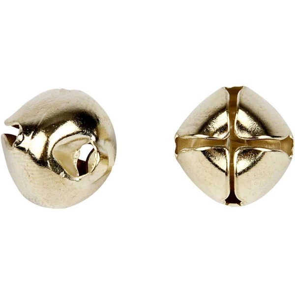 Clochettes en métal - 8 à 13 mm - Doré - 18 pcs - Photo n°1