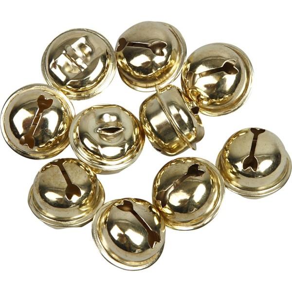 Clochettes en métal - 13 à 17 mm - Doré - 12 pcs - Photo n°1