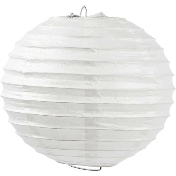 Abat-jour en papier - Blanc - Diamètre 20 cm - 1 pce - Photo n°1