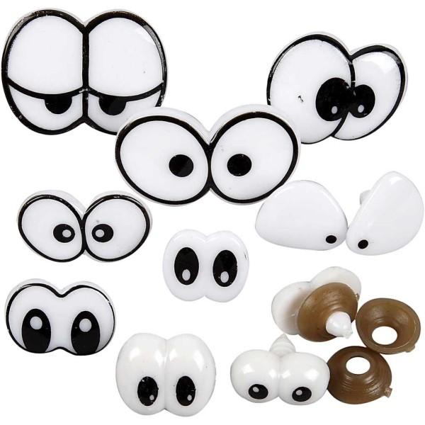 Assortiment de yeux - Designs assortis - 2 à 3 cm - 9 pcs - Photo n°1