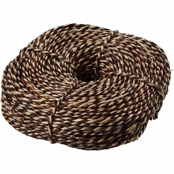 Corde naturelle torsadée - Brun - 4 mm x 100 m - Photo n°1