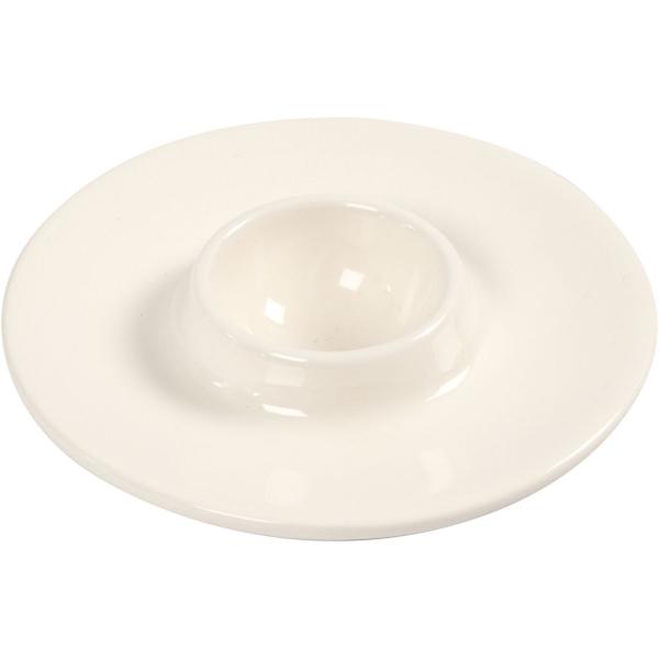 Lot de coquetiers en porcelaine blanche - 9,8 x 3,9 cm - 12 pcs - Photo n°1