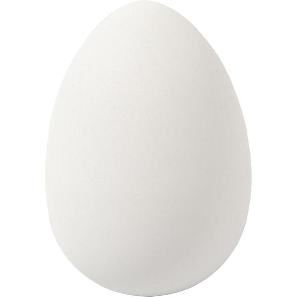 Oeufs d'oie en plastique à suspendre - Blanc - 8 x 5,5 cm - 8 pcs - Photo n°1