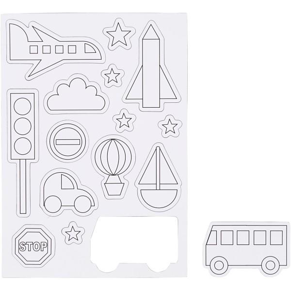 Magnets à décorer - Transport - 15 pcs - Photo n°1