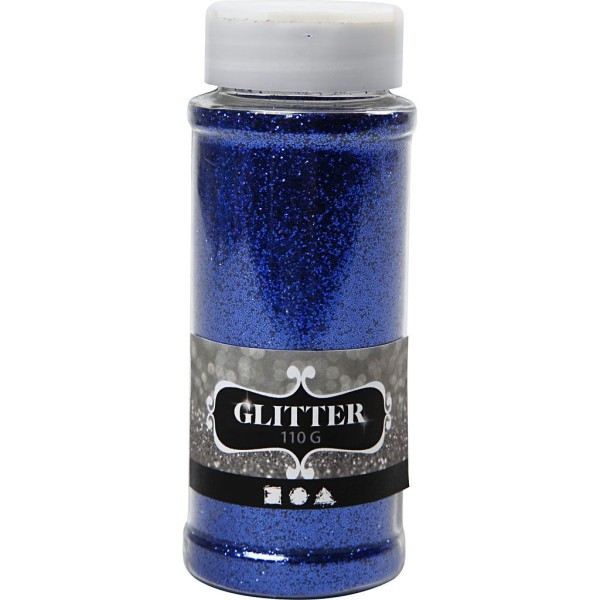 Paillettes fines - Bleu - 110 g - Photo n°1