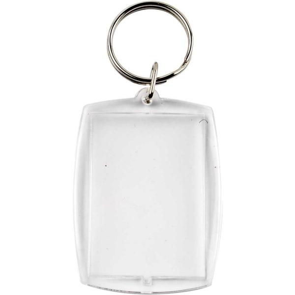 Porte-clé transparent pour photo - 40 x 50 mm - 25 pcs - Photo n°1