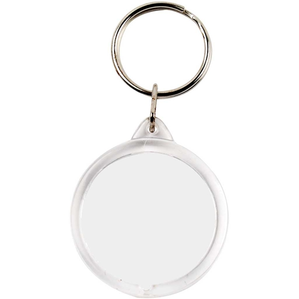 Porte-clé transparent pour photo - Rond 40 mm - 25 pcs - Photo n°1