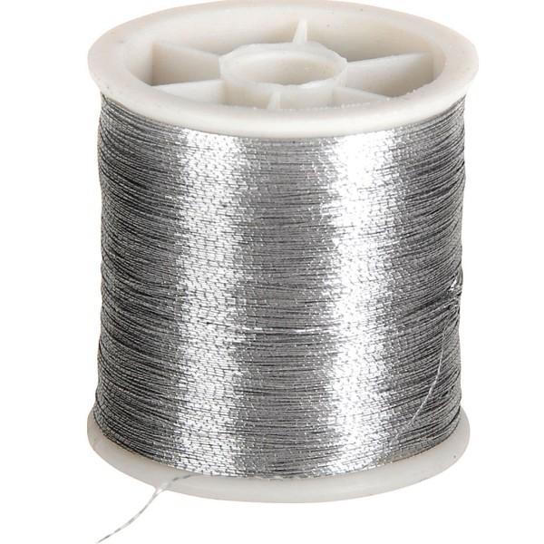 Fil nylon - Argent - 100 m - Photo n°1