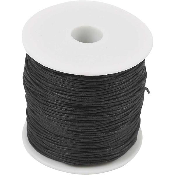 Ficelle de coton - Noir - 0,6 mm x 100 m - Photo n°1