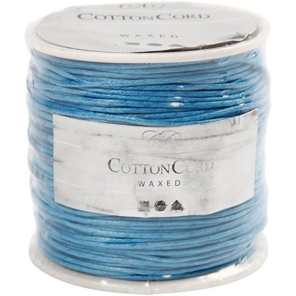 Fil de coton ciré - Turquoise - 1 mm x 40 m - Photo n°2