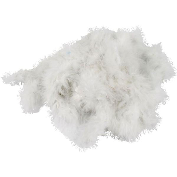 Boa de plumes - Blanc - 30 mm x 10 m - Photo n°1