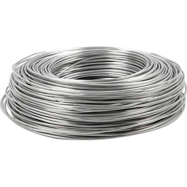 Fil aluminium - Argent - 2 mm x 100 m - Photo n°1