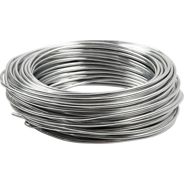 Fil aluminium - Argenté - 3 mm x 29 m - Photo n°1