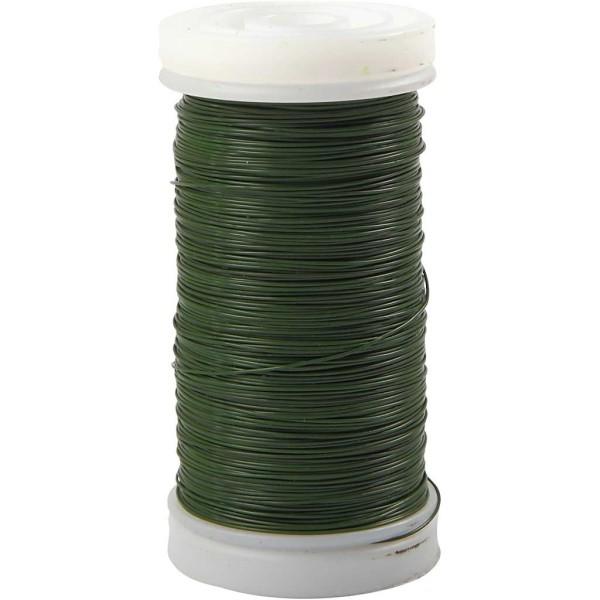 Fil métallique Vert spécial art floral 0,3 mm - 160 m - Photo n°1