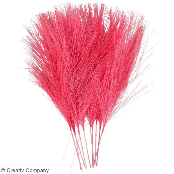 Plumes artificielles roses en polyester - 15 cm - 10 pcs - Photo n°2
