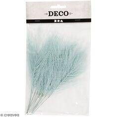 Plumes artificielles bleu clair en polyester - 15 cm - 10 pcs