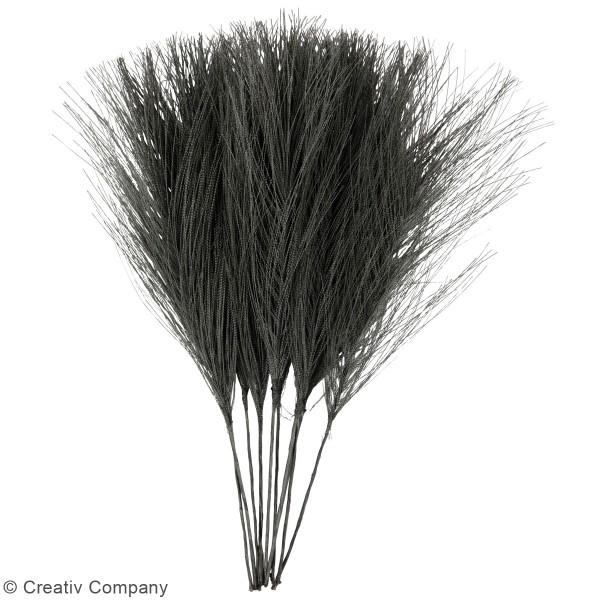 Plumes artificielles noires en polyester - 15 cm - 10 pcs - Photo n°2