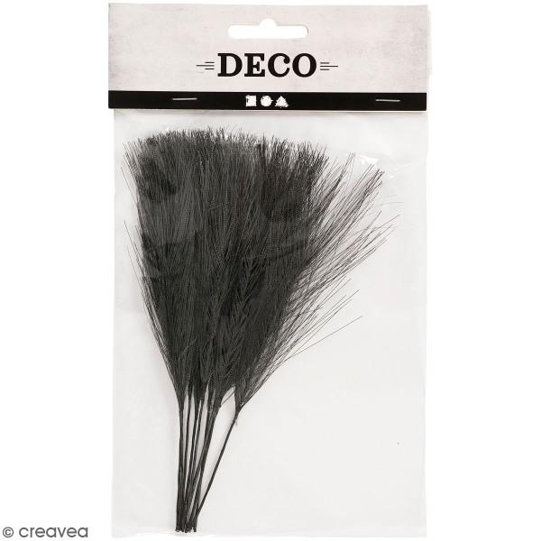 Plumes artificielles noires en polyester - 15 cm - 10 pcs - Photo n°1