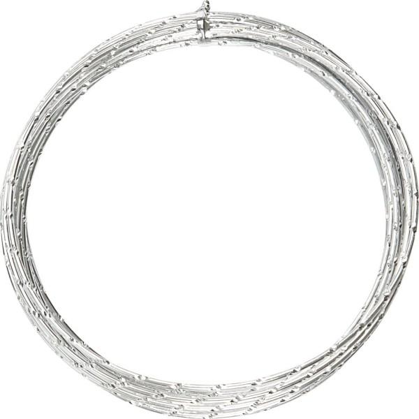 Fil aluminium Diamond-cut - Argenté - 2 mm x 7 m - Photo n°1