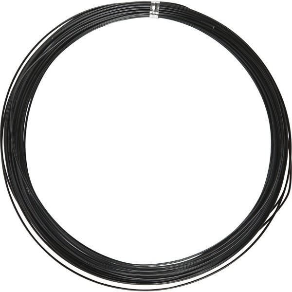 Fil aluminium - Noir - 1 mm x 16 m - Photo n°1