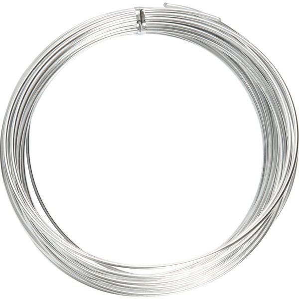 Fil aluminium - Argent - 2 mm x 10 m - Photo n°1