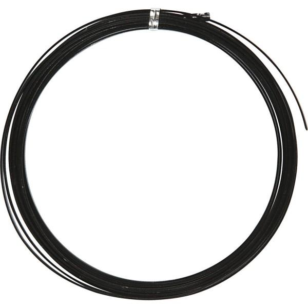 Fil aluminium gaufré - Noir - 3,5 mm - 4,5 mètres - Photo n°1